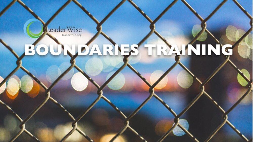 Not-Your-Average Boundaries Training